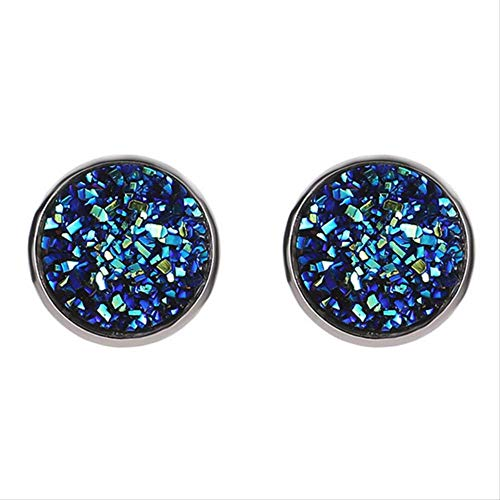 PMFS New Vintage Imitation Stone Resin Round Crystal Earring Hypoallergenic Engagement Wedding Earrings