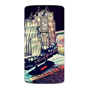 Impressive Travel Ship Map Multicolor Back Case Cover for LG G3