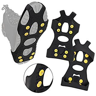 ALPIDEX Anti-slip Shoe Spikes Ice Grips in various sizes, Size:xl