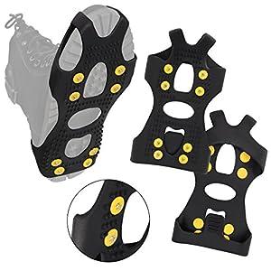 ALPIDEX Anti Rutsch Schuhspikes Ice Grips Schuhkrallen Schnne Spikes Größe 35-47