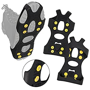 Alpidex antiscivolo scarpa Spikes Spikey Mikey Ice Grips in diverse misure, M