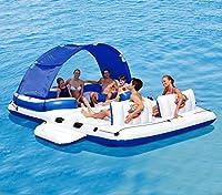 Andare al mare con gli amici è davvero piacevole e il divertimento aumenta con l'aumentare delle persone. L'isola gonfiabile Tropical Breeze è in grado di trasportare fino a 6 persone senza problemi di spazio. Infatti è dotata di cuscini per ...