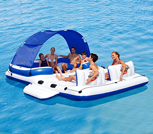 43105 Isla gigante inflable Coolerz Tropical Breeze Bestway 389x274 cm