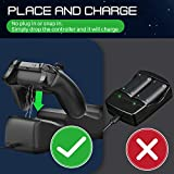 Fosmon Dual Controller Charger Compatible with Xbox One, One X, One S, (Dual Slot) High Speed Docking Charging Station with 2x 1000mAh Rechargeable Battery Packs (Black)