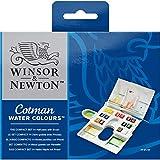 Winsor & Newton Cotman Water Colour The Compact Set - 14 Half Pens (Multicolor)