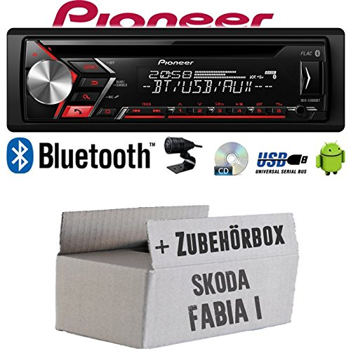 Autoradio Radio Pioneer DEH-S3000BT - Bluetooth | CD | MP3 | USB | Android Einbauzubehör - Einbauset für Skoda Fabia 1 - JUST SOUND best choice for caraudio