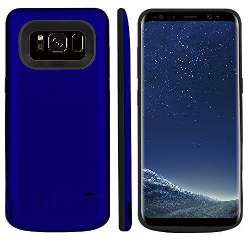 jia610203 Cover Batteria per Samsung Galaxy S8 Plus 6500mAh , Custodia Ricaricabile Cover Caricabatterie Batteria Esterna Battery Case per Samsung Galaxy S8 Plus 6500mAh Batteria Power