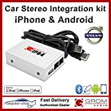 Kit d'intégration autoradio Audio GROM IPD4 Android iPhone iPod pour VOLVO S40 V40 S60 S70 V70 S80 XC70