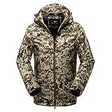 Luckycat Softshell Outfits für Herren im Freien mit Fleece Kapuzenmantel Winterjacke Steppjacke Daunenjacke Parka Mäntel Jacken