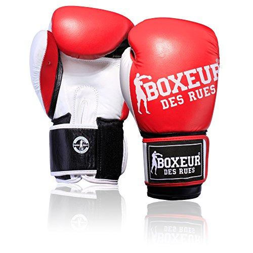 Boxeur Des Rues Fight Sportbekleidung Handschuh Impact Boxhandschuhe mit Logo, Herren, Fight Activewear, rot (Rot Activewear)