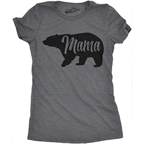 Crazy Dog Tshirts Womens Mama Bear Funny T Shirt for Moms Gift Idea Novelty Wild Animal Family Tee