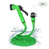 KKmoon Garden Hose Expandable Magic Flexible Water Hose Plastic Hoses Pipe with Spray Gun to Watering 25FT-175FT