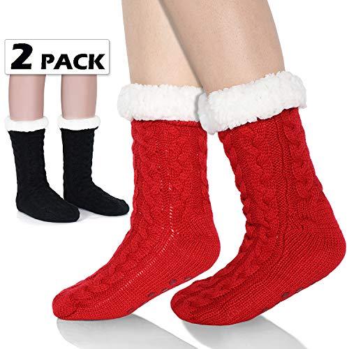 2beff6751b6 Tacobear Mujeres Gruesos lana calcetines de piso casa abrigados calcetines  de mujeres niñas antideslizantes calcetines de