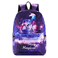PADIEOE Unicorn Bag Fantasy Backpack Rucksack School Student Travel Bags