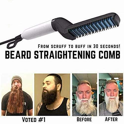Peine alisador de barba eléctrico para hombre