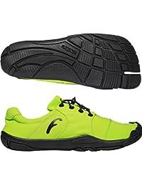 Freet Leap Zapatillas de running Verde amarillo Talla:Talla 40