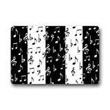 best gift Ms Right Fashionable Musical Notes Black and White Piano Key Thickness Doormat - Quick Drying Door Mat 23.6 x 15.7 inch