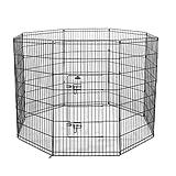 Confidence Pet Dog Metal Play Pen Puppy Rabbit Foldable Playpen Indoor/Outdoor Enclosure Run