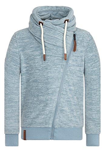 Naketano Male Zipped Jacket Gnadenlos durchgerattert Dusty Blue Melange
