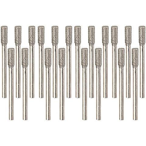 cnbtr plata 4mm con revestimiento de diamante Rotary rebabas herramienta Cilindro Point cristal taladros Pack de 20