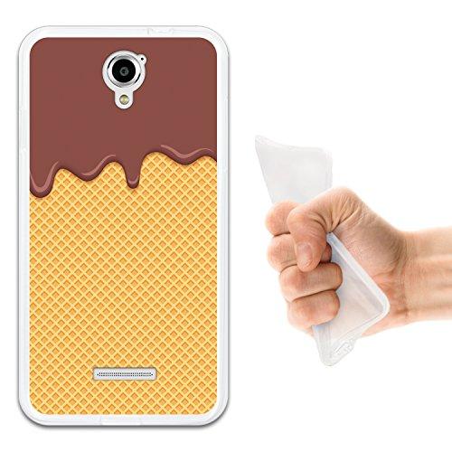 Coolpad Modena Hülle, WoowCase Handyhülle Silikon für [ Coolpad Modena ] Bitterschokolade, Sahne und Waffel Handytasche Handy Cover Case Schutzhülle Flexible TPU - Transparent