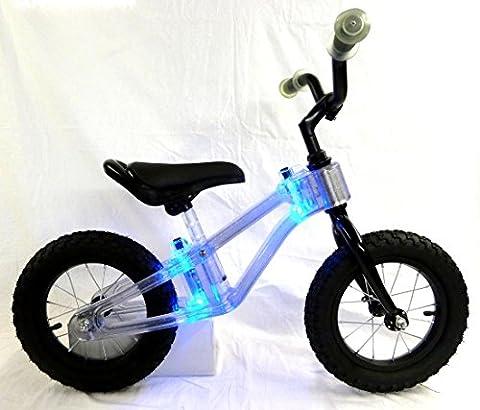 Laufrad mit Rahmen Beleuchtung blau Kinderlaufrad Kinder Fahrrad Lernlaufrad