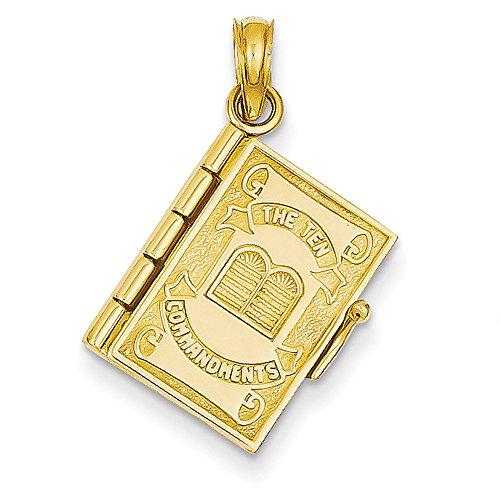 14K Gelb Gold zehn Gebote Bibel Anhänger D1501