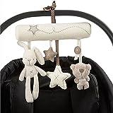 VintageⅢ musikalisches Mobile Kinderbett Kinderwagen Aufhängen Plüsch Spielzeug, Baby Cute Soft Rabbit Bear Sterne Bett Buggy hängende Spielzeuge, Softmusic weichem Plüsch Kaninchen Star Spielzeug zum
