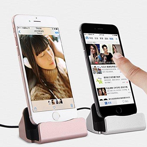 DaoRier 1 pc Teléfono móvil base de escritorio de carga rápida Samsung Huawei Android Estación base de carga rápida Soporte para teléfonos móviles y teléfonos inteligentes Android Cargador de teléfono móvil