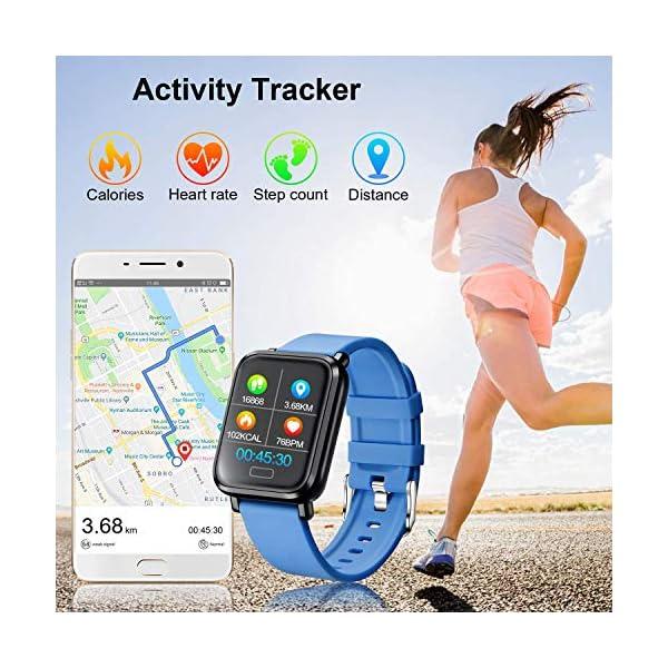Tipmant Reloj Inteligente Mujer Hombre Smartwatch Pulsera de Actividad Inteligente Impermeable IP68 Pulsómetros… 3