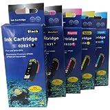 5 komp. XL Druckerpatronen für Epson Expression Premium XP 510 600 605 610 615 700 710 800 810 1 x schwarz 1 x photoschwarz 1 x blau 1 x rot 1 x gelb