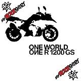 2 x Tuning-Aufkleber-Set in 20 cm BMW One world one GS Motorrad Aufkleber Bike Logo Sticker 14 `+ Bonus Testaufkleber
