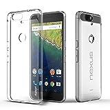 Huawei Nexus 6P Coque, iVoler [Liquid Crystal] Case Coque Housse Etui Ultra Hybrid TPU Silicone,[Extrêmement Mince Souple et Flexible] [Peau Transparente] [Shock-Absorption Bumper et Anti-Scratch Effacer Back] pour Huawei Google Nexus 6P (Bumper - HD Clair) -Garantie de Remplacement de 18 Mois