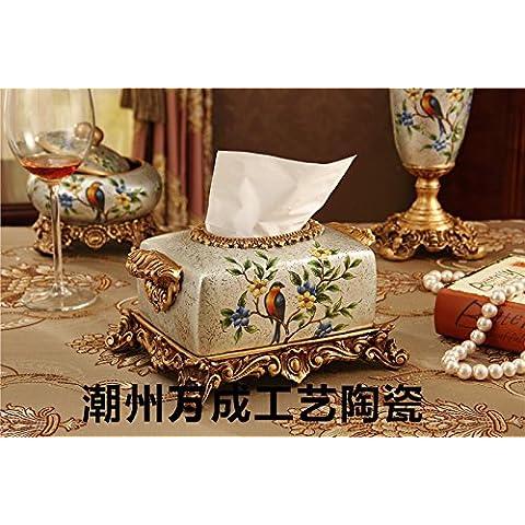 La colazione continentale deluxe home ornamenti in ceramica scatola di carta ,23*19*14cm