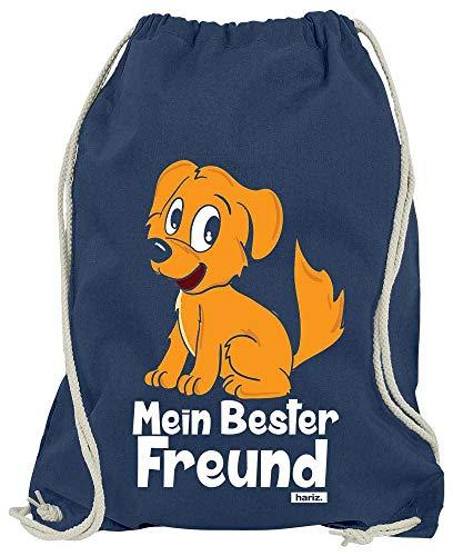 HARIZ Turnbeutel Mein Bester Freund Hund Tiere Kindergarten Plus Geschenkkarten Navy Blau One Size (Bester Link Kostüm)