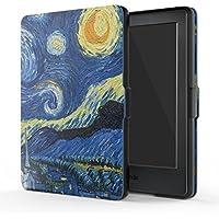 MoKo Funda para Kindle 8th Generación - Funda de SmartShell Más Delgada y Ligera con Auto Sueño/Estela - Noche Estrellada (No es Compatible con el kinlde Paperwhite)