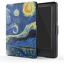 """MoKo Funda para Kindle 8th Generación - Funda de SmartShell Más Delgada y Ligera con Auto Sueño / Estela para Amazon All-New Kindle E-reader (6"""" Display, 8th Generacón 2016), Noche Estrellada"""