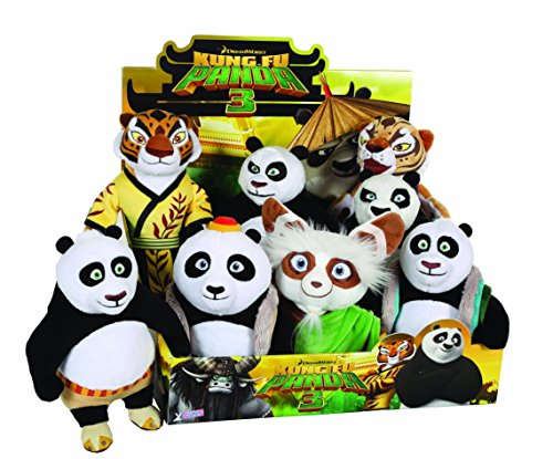 Joy Toy 055309 18 cm Kung Fu Panda 3 Master Shifu peluche assortiti