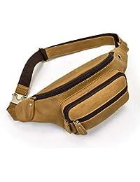 Marsupio Borsa A Tracolla Da Uomo Piccola Vera Pelle Sling Bag Crossbody Per  L ufficio 194818402b3