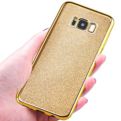 NWNK13® Coque arrière de protection souple en gel / TPU Ultra mince Flexible Avec paillettes Pour Samsung Galaxy J3 (2016), doré brillant