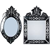 MADHUSUDAN GLASS WORKS Mirror & Plywood Wall Mirror (Pack Of 2, Silver) - B07BJ4H796