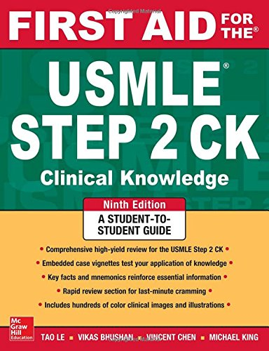 First aid for the USMLE steps ck (First Aid for the Usmle Step 2) por Vikas Bhushan