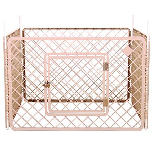IRIS, Welpenauslauf / Freigehege / Laufstall / Welpengitter H-604, Kunststoff, beige, 90 x 60 cm (1 Panel) Test