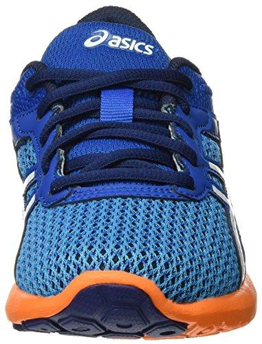 Asics Fuzex Rush Gs, Chaussures de Running Entrainement Mixte Enfant Bleu (Imperial/White/Hot Orange)