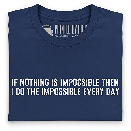 Impossible Every Day T-shirt, Uomo Blu navy