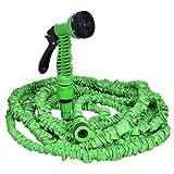 COSTWAY Gartenschlauch Wasserschlauch Flexischlauch Bewässerungsschlauch Zauberschlauch dehnbar flexibel grün Länge 7,5m bis 60m (30m)
