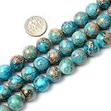 Sweet & Happy Girl's store 12mm runde blaue Crazy Lace Achat Perlen Strang 15 Zoll Schmuckherstellung Perlen