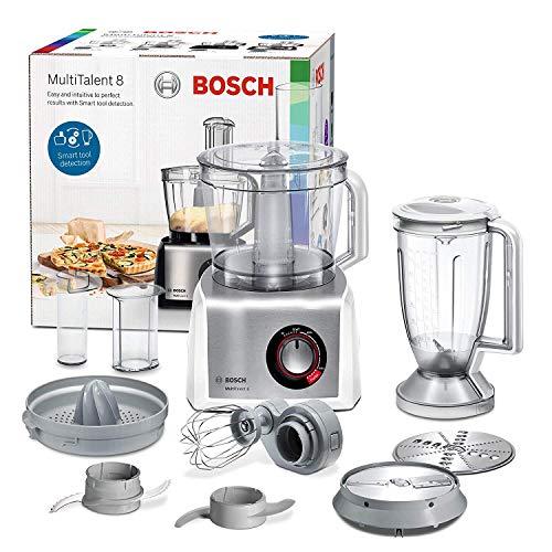 Bosch mc812s820 multitalent 8 – processeur d'aliments, 1.250 W, 3.9 litres de capacité, multi-accesorios, Blanc et Acier inoxydable