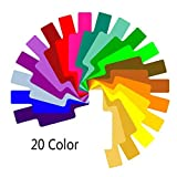 Lergo 20 Color Photographic Color Gels Filter Card Lighting Diffuser for Canon Nikon Yongnuo Flash Nissin Speedlite