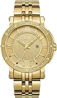 JBW Men's Luxury Vault 24 Diamonds Pave Dial Metal Watch - J6